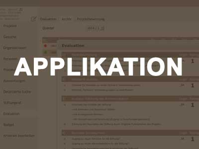 Applikation für Stiftungen