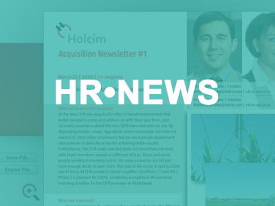 Holcim Newsletter-Applikation